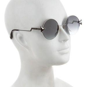 Women's Unisex Fendi  round gradient Sunglasses.